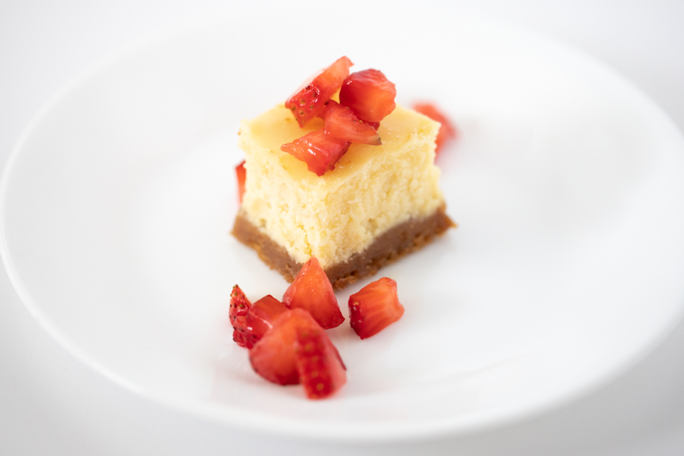 Cheesecake Bite with Fresh Strawberries